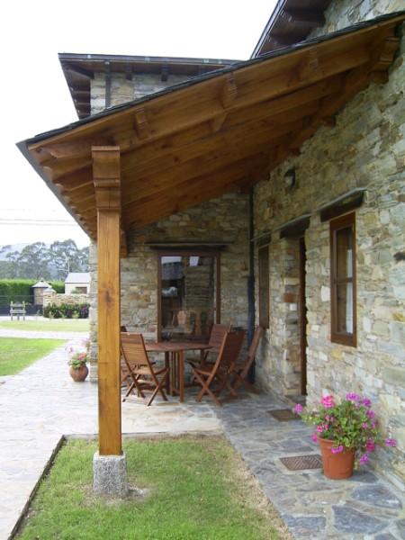 casa rural con porche