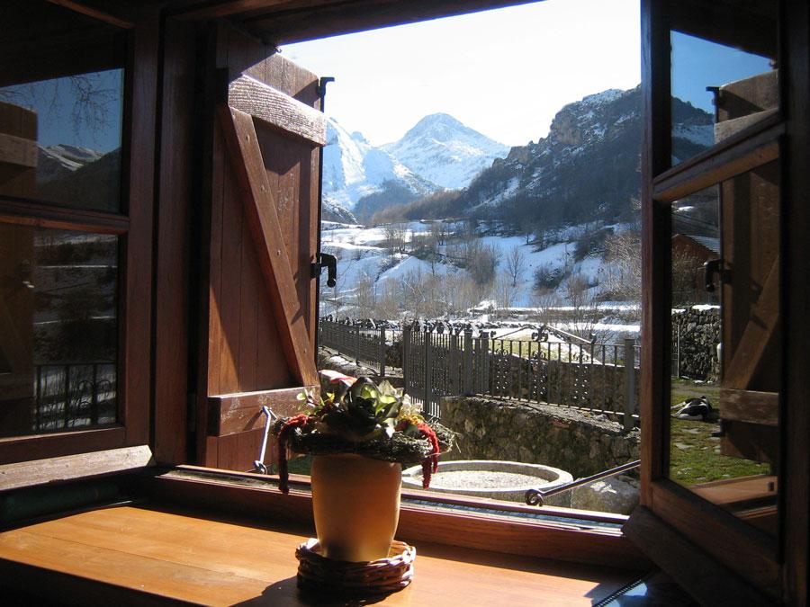Casa rural vistas a la montaña
