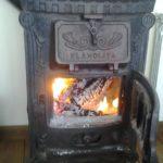 casa rural chimenea de leña