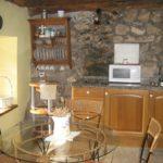 casa rural con cocina salon