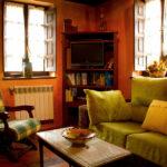 salon rustico casa de aldea